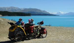 Cykloturistické kolo na Novém Zélandu