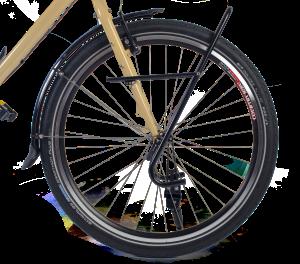 Kolo na cykloturistiku s turistickým nosičem na brašny