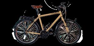 Ocelové turistické kolo s montažními body pro cestovní příslušenství